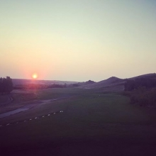Twilight golf in the Valley. #golfyqr #yqr #reginagolf #regina #lumsden #valleylife