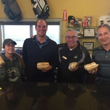 Big thanks to Carlo from the @italianstardeli for the lunch delivery today! Smells pretty amazing in the Pro Shop. #yqrfood #TeamDV