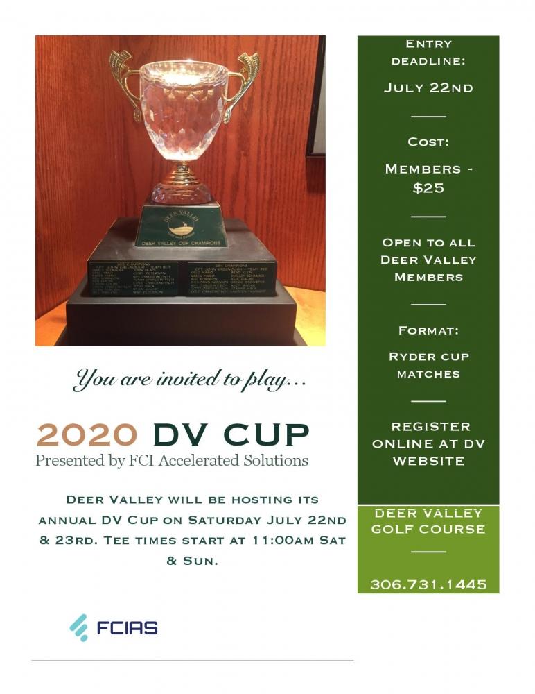 DV Cup July 25th & 26th