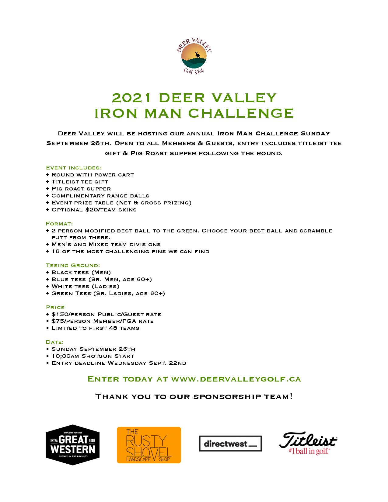 Deer Valley Iron Man Golf Tournament
