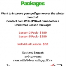 Looking to play better golf in 2019? Let @pgaofcanada professional Sam Wills help you get ready for next year. @firstteeregina #winterlessons #improveyourgame