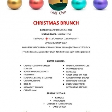 Join us Sunday December 2nd for our annual Christmas Brunch. We will be serving up great family activities and a killer omelette bar. RSVP to Kenny.pagan@deervalleygolf.ca. ☃️🎄