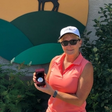 Congratulations to one of our members Jolaine Arndt on her first ace ever on hole #4 today! #ace #teamdv #firstace