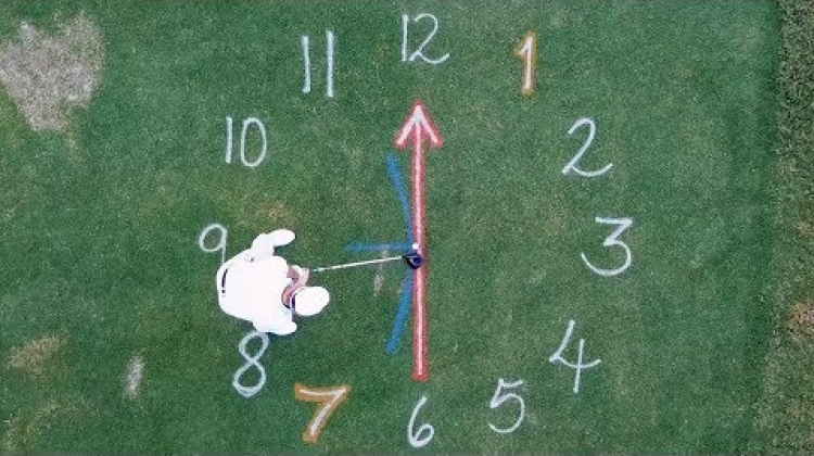 Insta Golf Tips: Pretend Your Swinging Inside a Clock